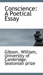 conscience a poetical essay_cover