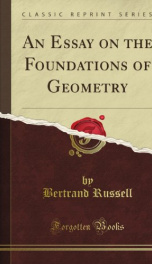 an essay on the foundations of geometry_cover