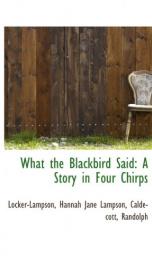 What the Blackbird said_cover