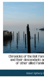chronicles of the boit family and their descendants and of other allied families_cover
