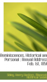 reminiscences historical and personal annual address feb 1st 1856_cover