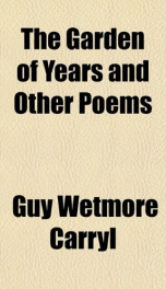 the garden of years and other poems_cover