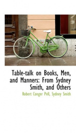 table talk on books men and manners_cover