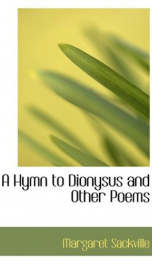 a hymn to dionysus and other poems_cover