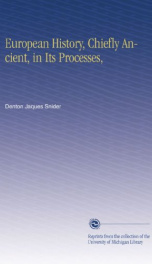 european history chiefly ancient in its processes_cover