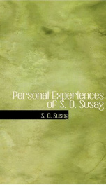 Personal Experiences of S. O. Susag_cover