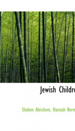 Jewish Children_cover