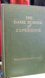 the dame school of experience_cover