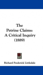 the petrine claims a critical inquiry_cover