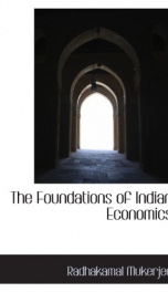 the foundations of indian economics_cover