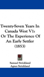 Twenty-Seven Years in Canada West_cover