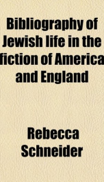 bibliography of jewish life in the fiction of america and england_cover