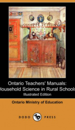 Ontario Teachers' Manuals: Household Science in Rural Schools_cover