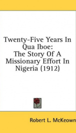 twenty five years in qua iboe the story of a missionary effort in nigeria_cover