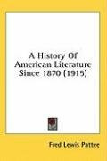 a history of american literature since 1870_cover