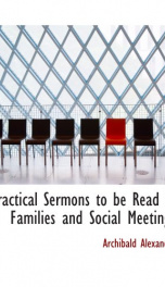 practical sermons to be read in families and social meetings_cover