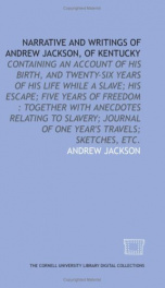 narrative and writings of andrew jackson of kentucky_cover