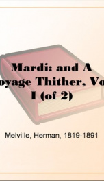 Mardi: and A Voyage Thither, Vol. I (of 2)_cover