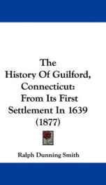 the history of guilford connecticut_cover