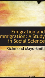 emigration and immigration a study in social science_cover