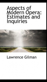aspects of modern opera estimates and inquiries_cover