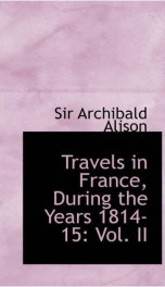 Travels in France during the years 1814-15_cover