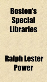bostons special libraries_cover