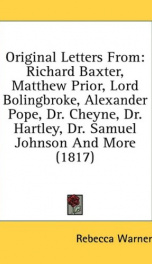 original letters from richard baxter matthew prior lord bolingbroke alexander_cover