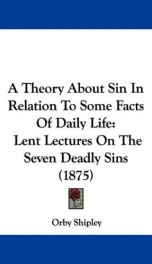 a theory about sin in relation to some facts of daily life_cover
