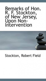 remarks of hon r f stockton of new jersey upon non intervention_cover