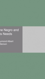 the negro and his needs_cover