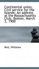 continental union civil service for the islands an address at the massachusett_cover