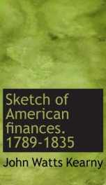 sketch of american finances 1789 1835_cover