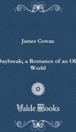 Daybreak; a Romance of an Old World_cover
