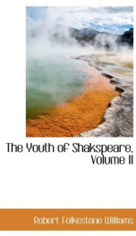 the youth of shakspeare_cover