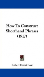 how to construct shorthand phrases_cover