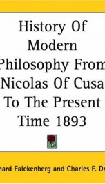 History of Modern Philosophy_cover