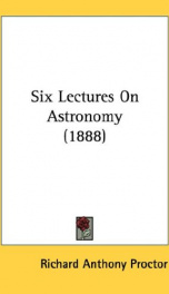 six lectures on astronomy_cover