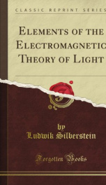 elements of the electromagnetic theory of light_cover