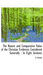 the nature and comparative value of the christian evidences considered generally_cover