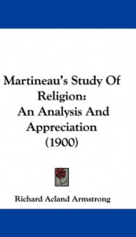martineaus study of religion an analysis and appreciation_cover