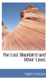 the last blackbird and other lines_cover