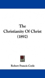 the christianity of christ_cover