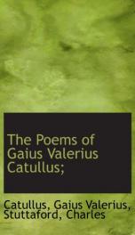 the poems of gaius valerius catullus_cover