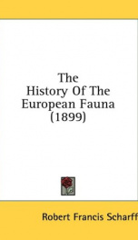 the history of the european fauna_cover