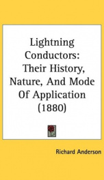 lightning conductors their history nature and mode of application_cover