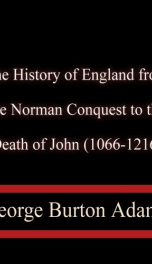 The History of England from the Norman Conquest_cover