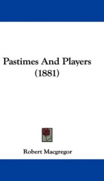 pastimes and players_cover