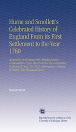 hume and smolletts celebrated history of england from its first settlement to_cover