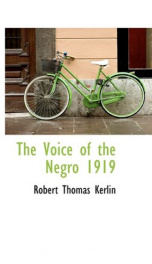 the voice of the negro 1919_cover